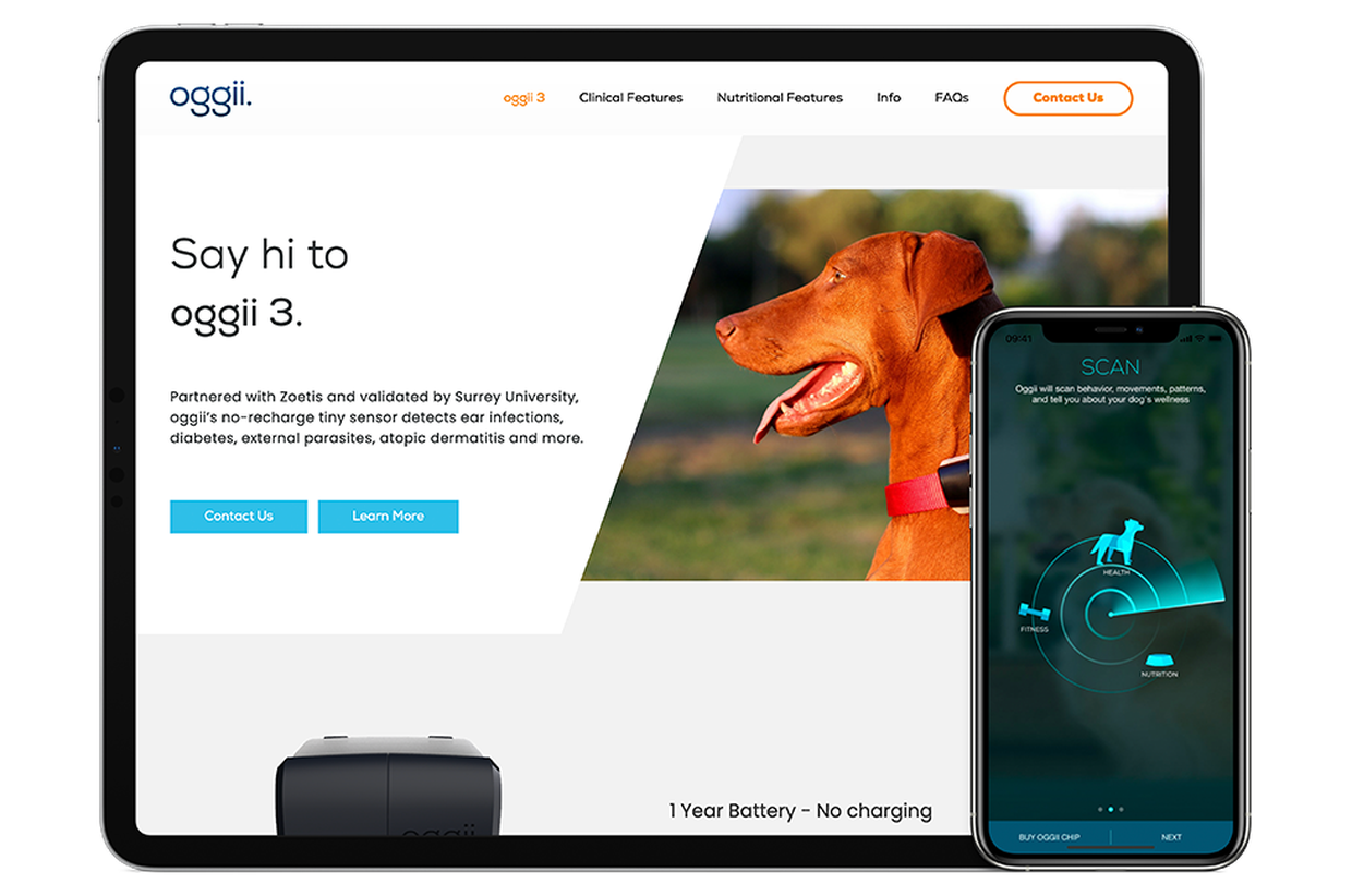 Health Tracker IoT and software for pets